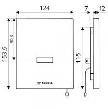 Placa de comanda cu senzor SCHELL Edition 230 V