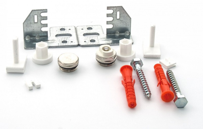 Kit universal accesorii montaj radiator otel