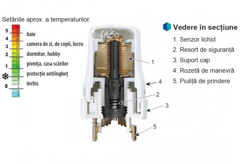Robinet cu cap termostatic si robinet retur 1/2 Jurgen Schlosser