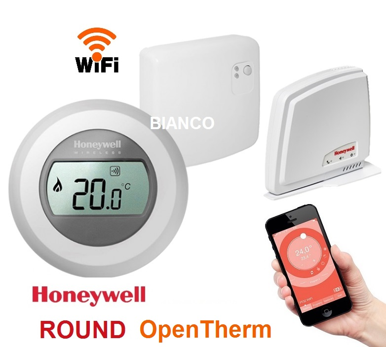 Termostat de ambient WiFi Honeywell ROUND Connected-Open Therm