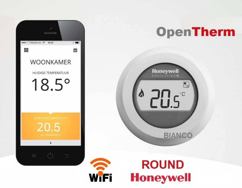 OpenTherm Honeywell ROUND Connected- termostat de ambient WiFi