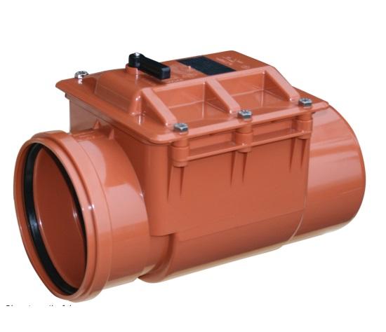 Clapeta antiretur din PVC 200 mm cu inchizator