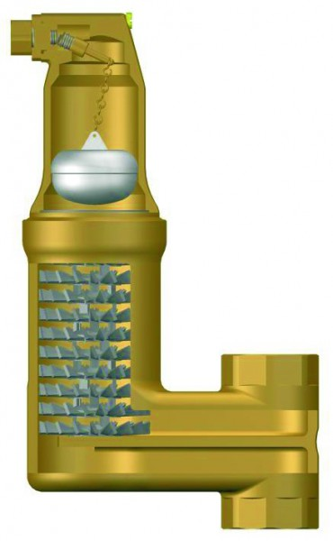 Separator pentru microbule Zeparo ZUVL Vent 1