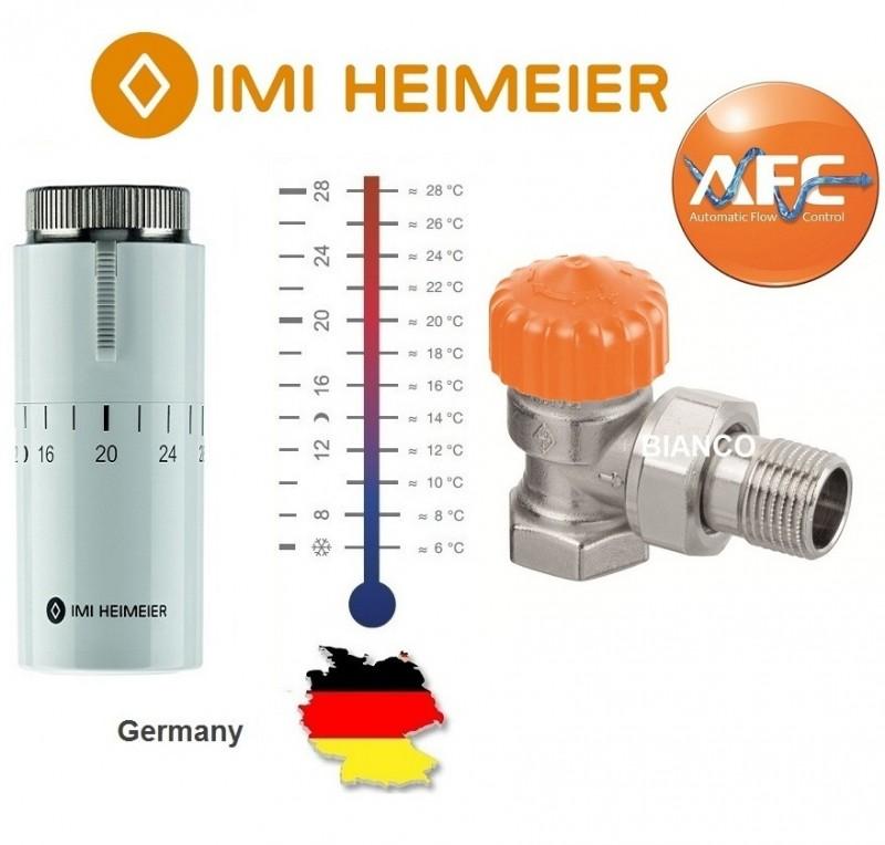 Robinet termostatic cu limitator de debit Heimeier 1/2 si cap HALO