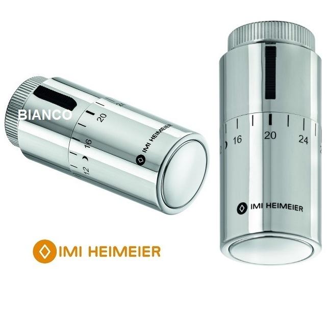 Cap termostatic Heimieier HALO CROM cu scala de marcaj temperatura
