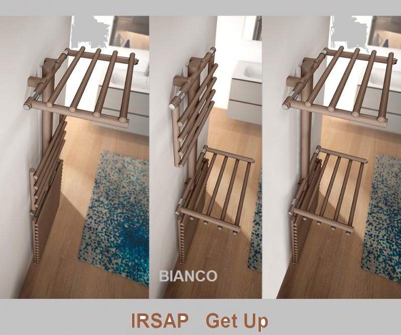 Calorifer de baie IRSAP Get Up 550x1499 GRIGIO