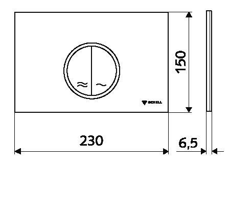 SCHELL placa de actionare WC Montus CIRCUM Alb