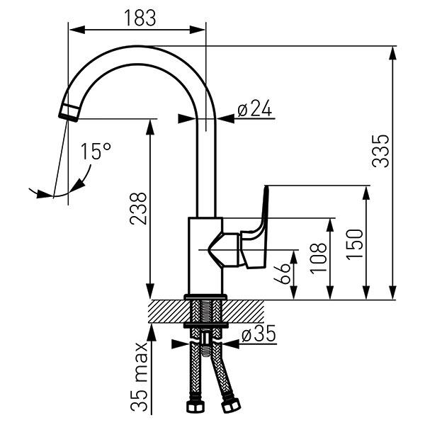 TIGA VerdeLine - baterie stativa bucatarie