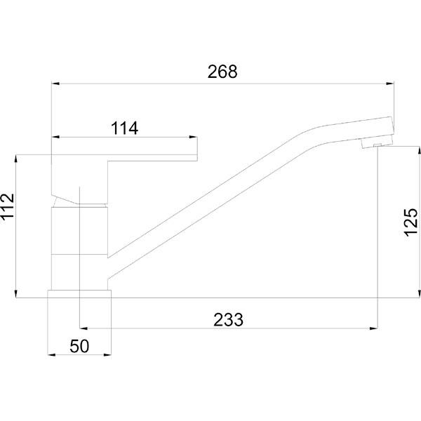 FRESH - baterie stativa bucatarie cu pipa lunga