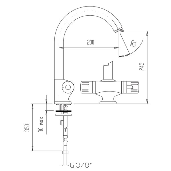 Ferro TA4 - baterie termostatata de bucatarie