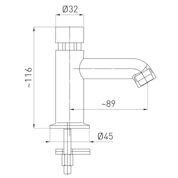 Presstige II robinet lavoar cu temporizare pentru apa rece si apa calda