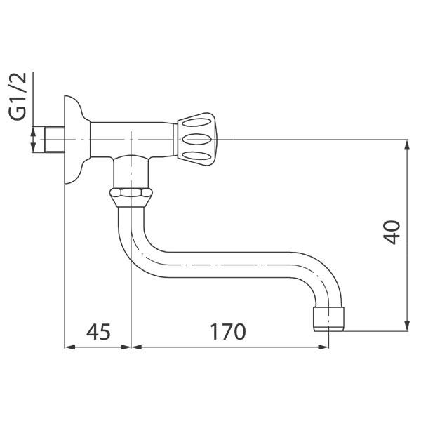 STANDARD baterie de perete pentru apa rece