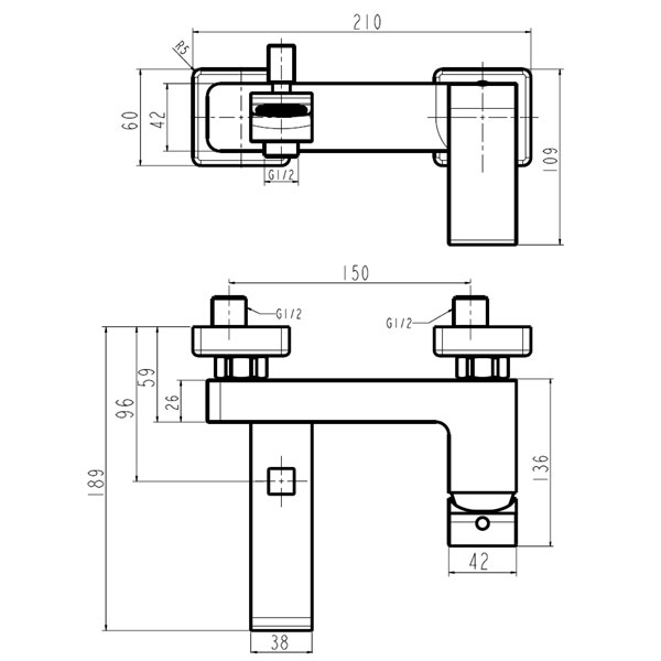 NOBLESS SHARP - baterie pentru cada