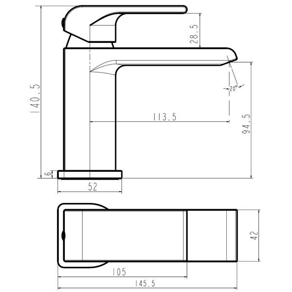 NOBLESS SHARP - baterie stativa lavoar