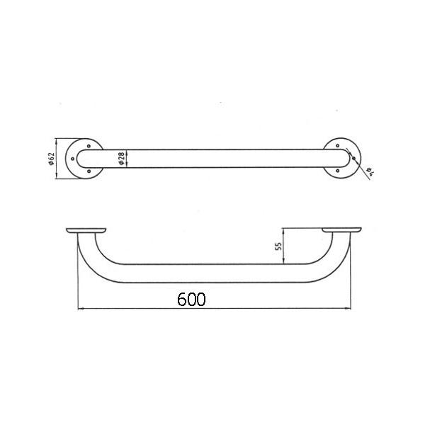 Maner sustinere  600 mm - Metalia HELP