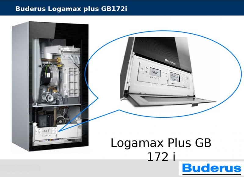 Buderus Logamax Plus GB172iK - 35 kw Negru