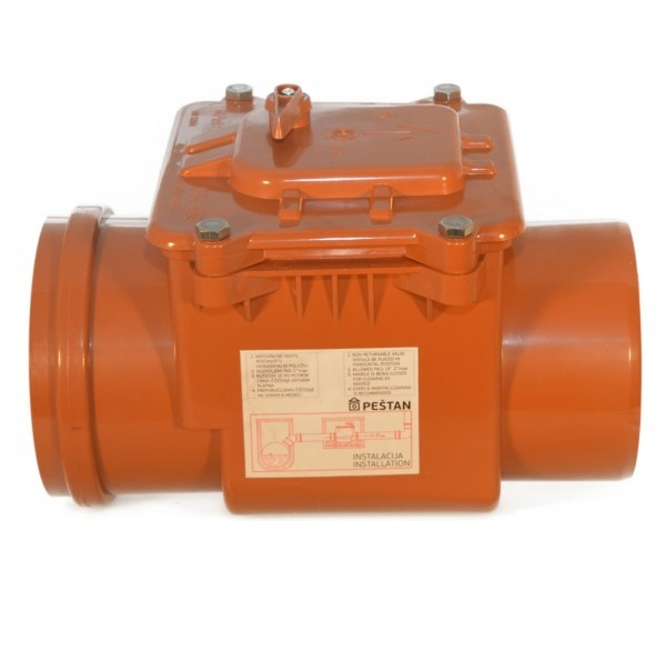 Clapeta antiretur din PVC 160 mm cu inchizator