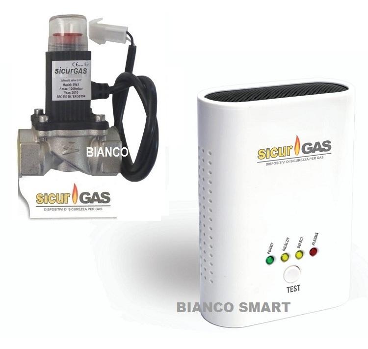 KIT detector de gaz cu electrovana SicurGAS 3/4