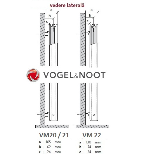 Calorifer vertical Vogel&Noot VM20x1800x450