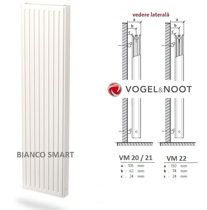Calorifer vertical Vogel&Noot VM20x1800x600