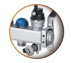 Distribuitor din inox cu 7 circuite debitmetre si ventile termostatice Purmo Premium