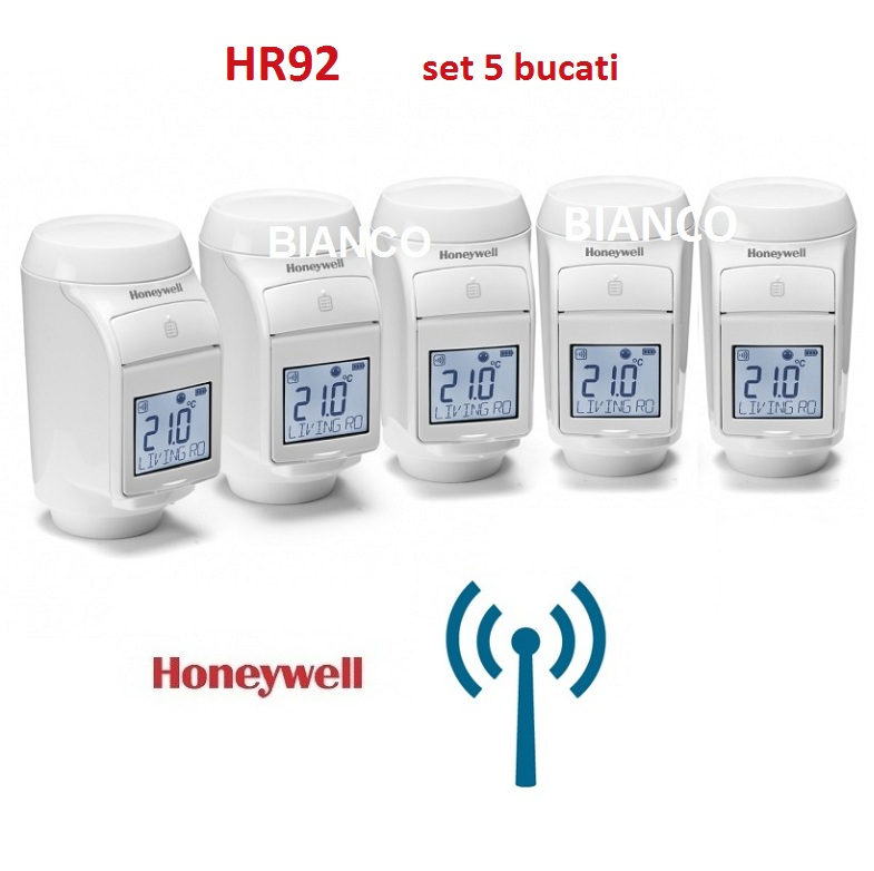 Cap termostatic RF Honeywell HR92, set 5 bucati