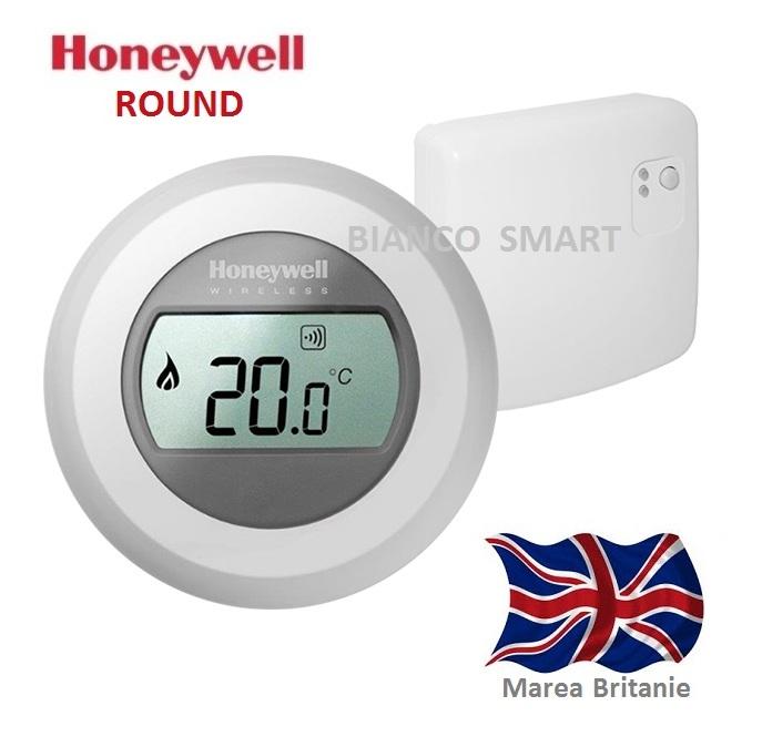 Termostat de ambient fara fir Honeywell Y87RF ROUND