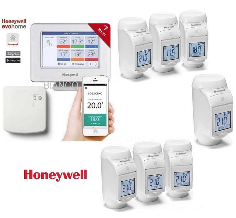 Termostat Honeywell EvoHOME pentru comanda centralei si 7 calorifere