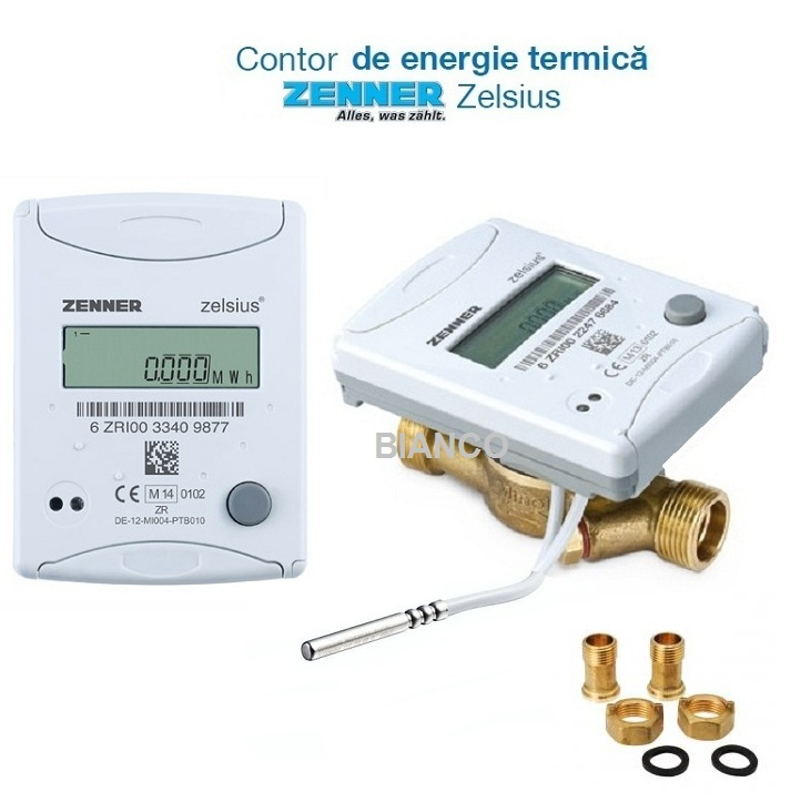 Contor de energie termica Zenner Zelsius C5 ISF - 1/2 DN15