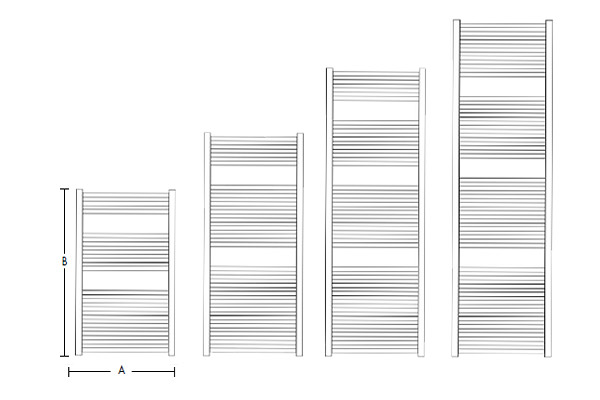 Calorifer din aluminiu pentru baie Fondital COOL 500x1160 Negru Opac