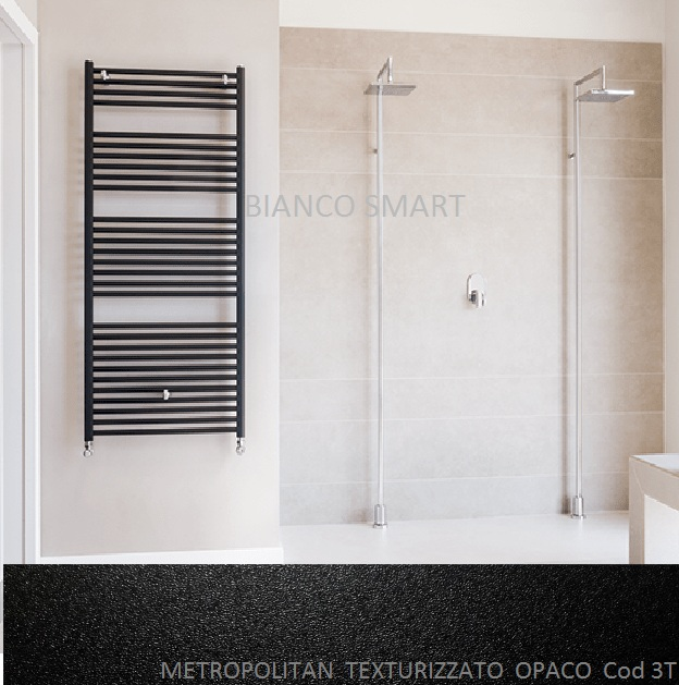 Calorifer din aluminiu pentru baie Fondital COOL 600x1160 Negru Opac