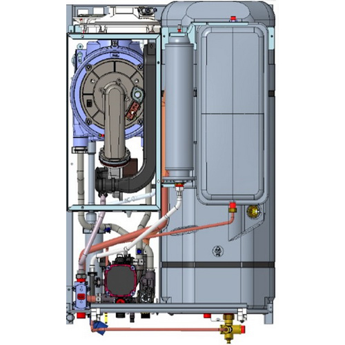 Centrala IMMERGAS Victrix Zeus Superior 35 cu boiler de 60 litri incorporat - putere ACM 33,8 kW si putere incalzire 28,2 kW