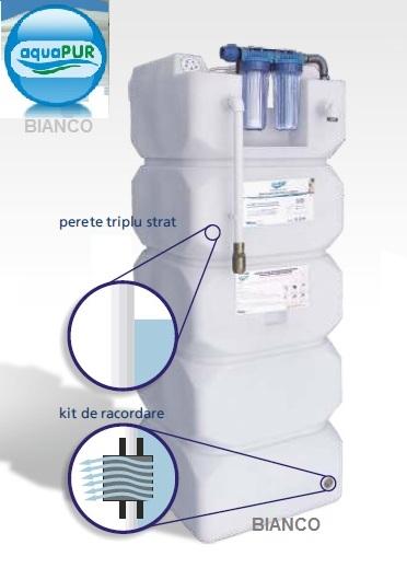 AquaPUR 750 litri sistem de filtrare stocare si pompare apa