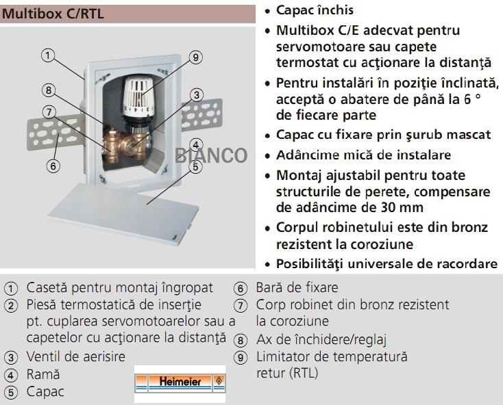 HEIMEIER Multibox C-RTL pentru reglajul sistemelor de incalzire prin pardoseala+calorifere