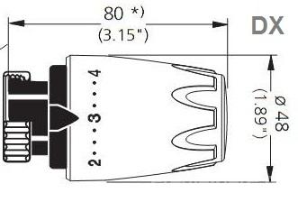 Cap termostatic Heimeier DX Art Line - Maro 6700 -16.900