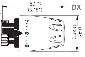 Cap termostatic Heimeier DX Art Line - Chihlimbar 6700-14.900