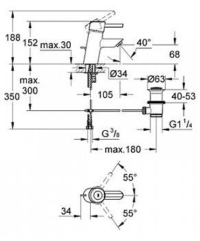 Baterie lavoar cu monocomanda Grohe Concetto