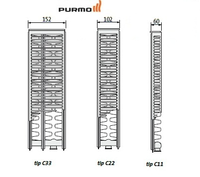 Calorifer Purmo Compact Ventil 22-600-1600