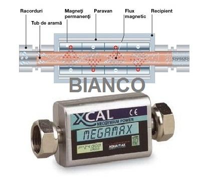 Filtru magnetic anticalcar XCAL Megamax 1/2