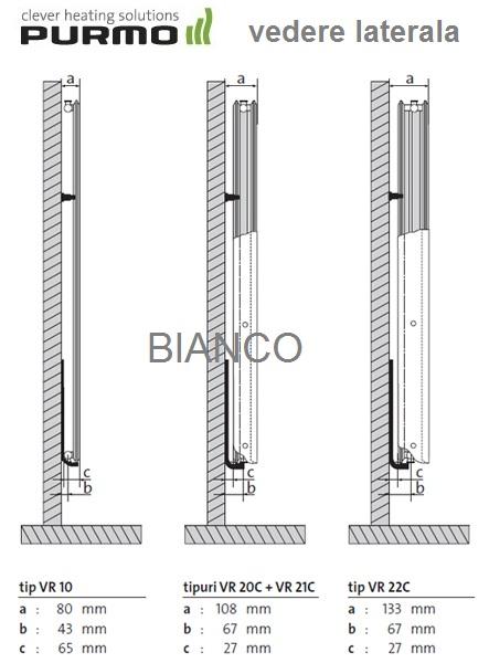Calorifer vertical Purmo VR22C/1800/750