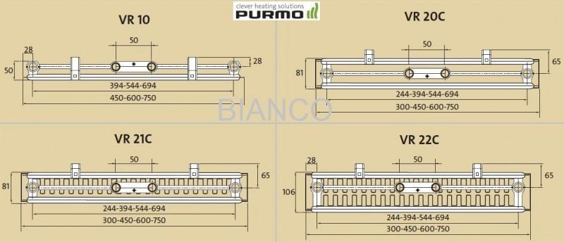 Calorifer vertical Purmo VR22C/1950/450