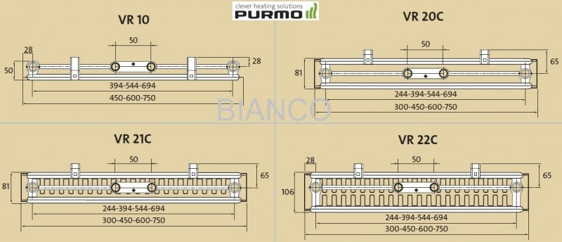 Calorifer vertical Purmo VR22C/1950/600