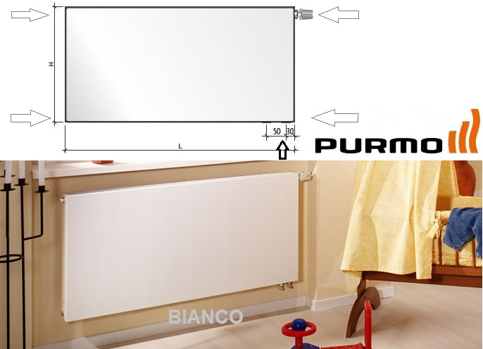 Calorifer PURMO Plan Ventil Compact 22x500x1000
