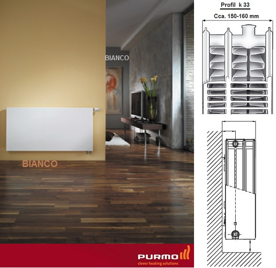 Calorifer PURMO Plan Ventil Compact 33x600x1200