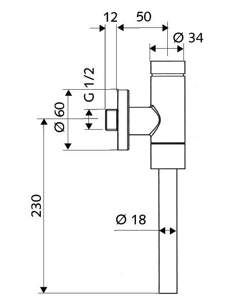 Robinet de spalare pisoar cu temporizator SCHELLOMAT BASIC