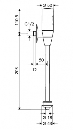 Baterie pisoar cu infrarosu Schell SCHELLTRONIC