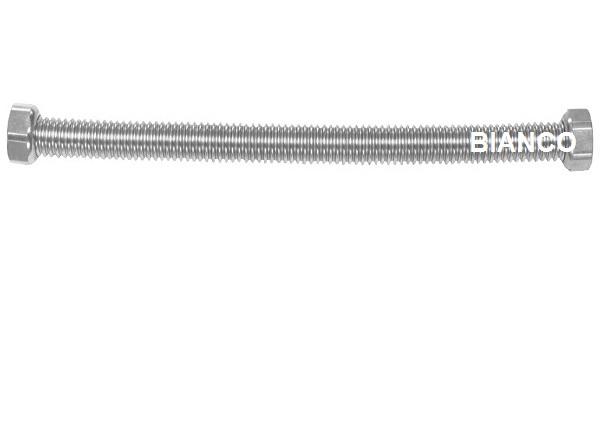 Racord flexibil din inox pentru apa 1/2-1/2 x 80 cm