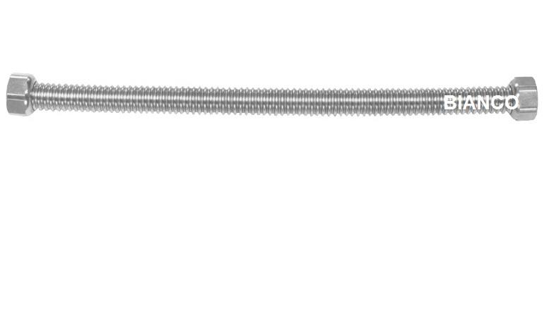 Racord flexibil din inox pentru apa 1/2-1/2 x 120 cm