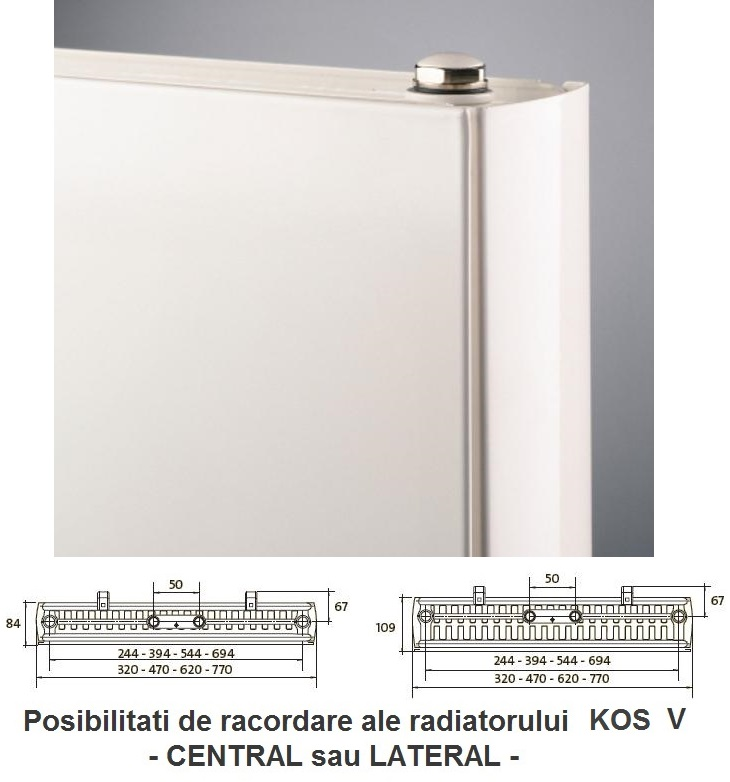 Calorifer vertical Purmo KOS V 21x1800x600