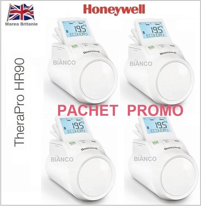 Cap termostatat electronic Honeywell HR90 - PACHET 4 bucati